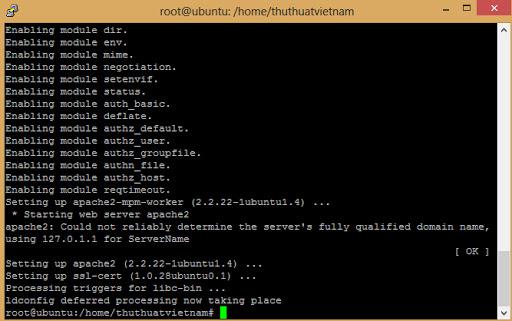 dịch vụ cấu hình máy chủ vps ubuntu