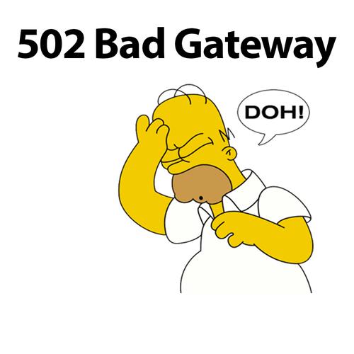 lỗi 502 bad gateway