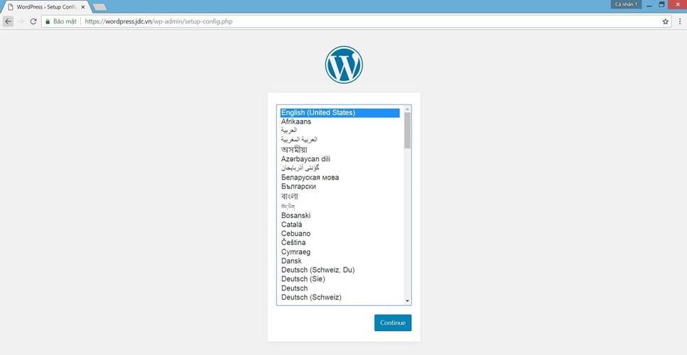cài wordpress trên cpanel