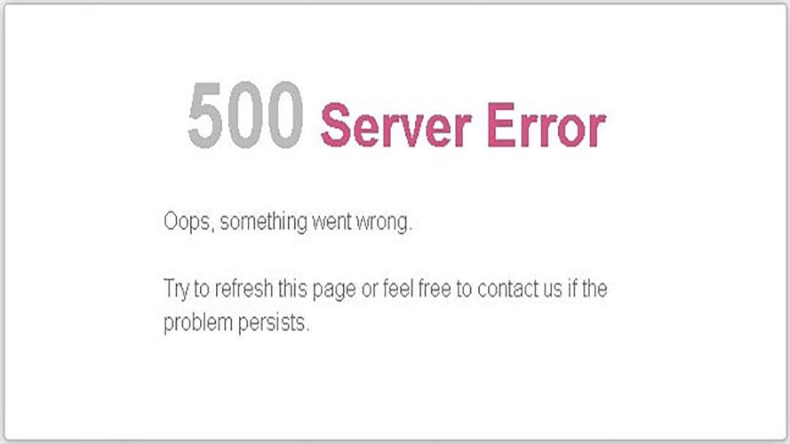 lỗi 500 internal server error