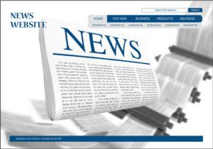 thiết kế Web tin tức