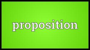 proposition là gì