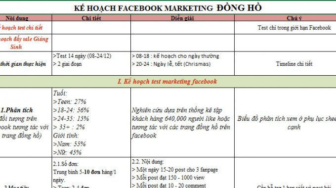 marketing plan mẫu
